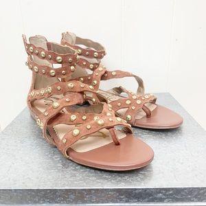 215716e7bcde6e Sam Edelman gladiator sandals with brass details